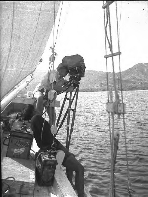 Filming on the 'Bintang'.